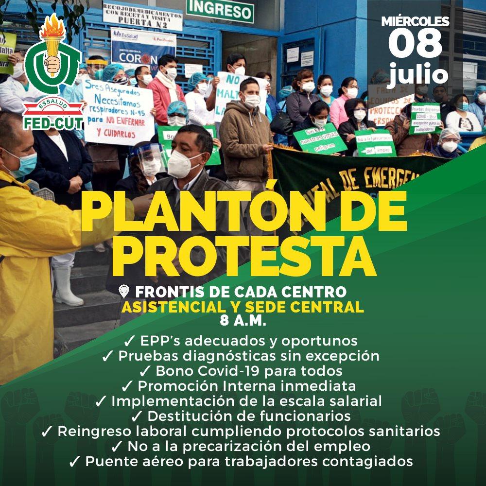 Protesta Nacional 8 julio FED-CUT EsSalud