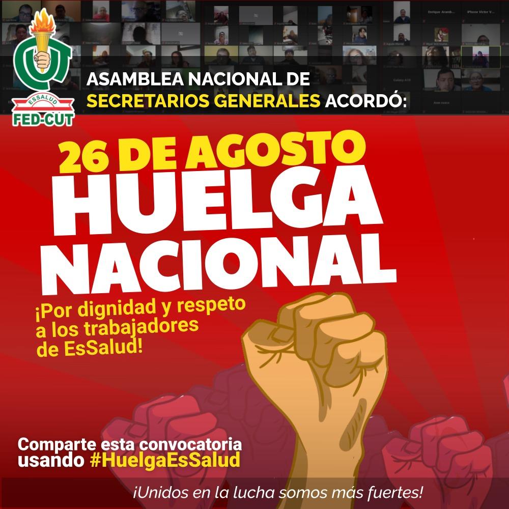 Huelga Nacional EsSalud 26 agosto